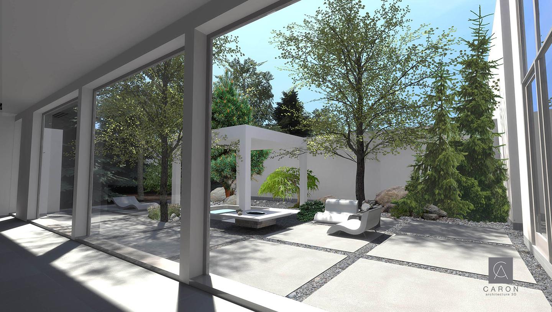 CARON,ARCHITECTURE,3D,PLAN,MAISON
